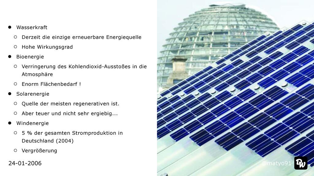 @matyo91 24-01-2006 Wasserkraft   Derzeit die e...