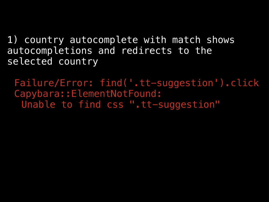 1) country autocomplete with match shows autoco...