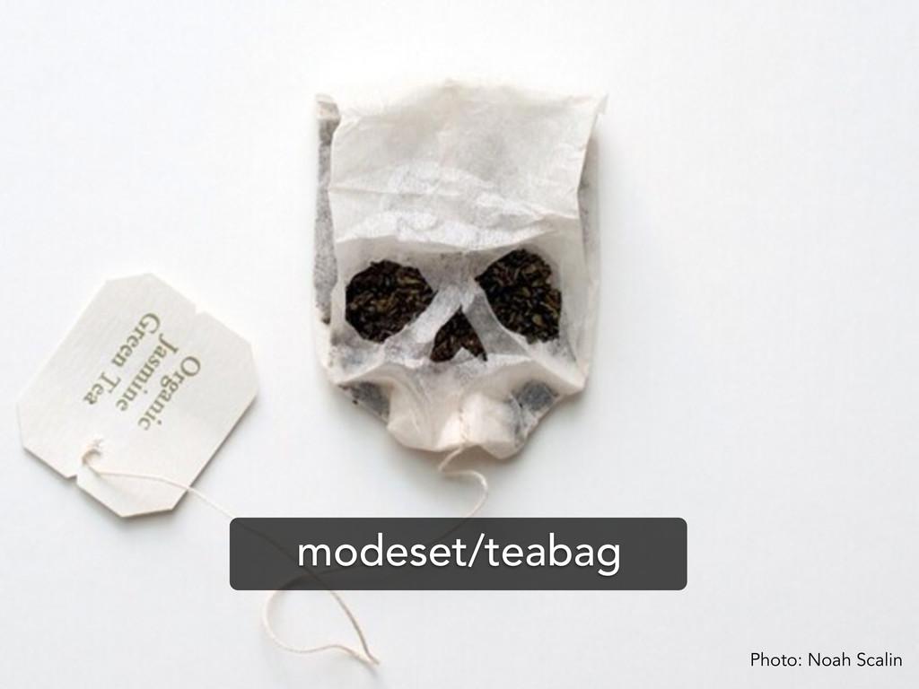 Photo: Noah Scalin modeset/teabag