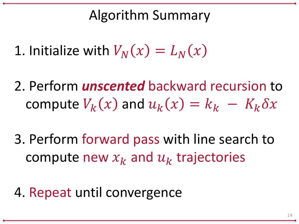 Algorithm Summary 14 1. Initialize with...