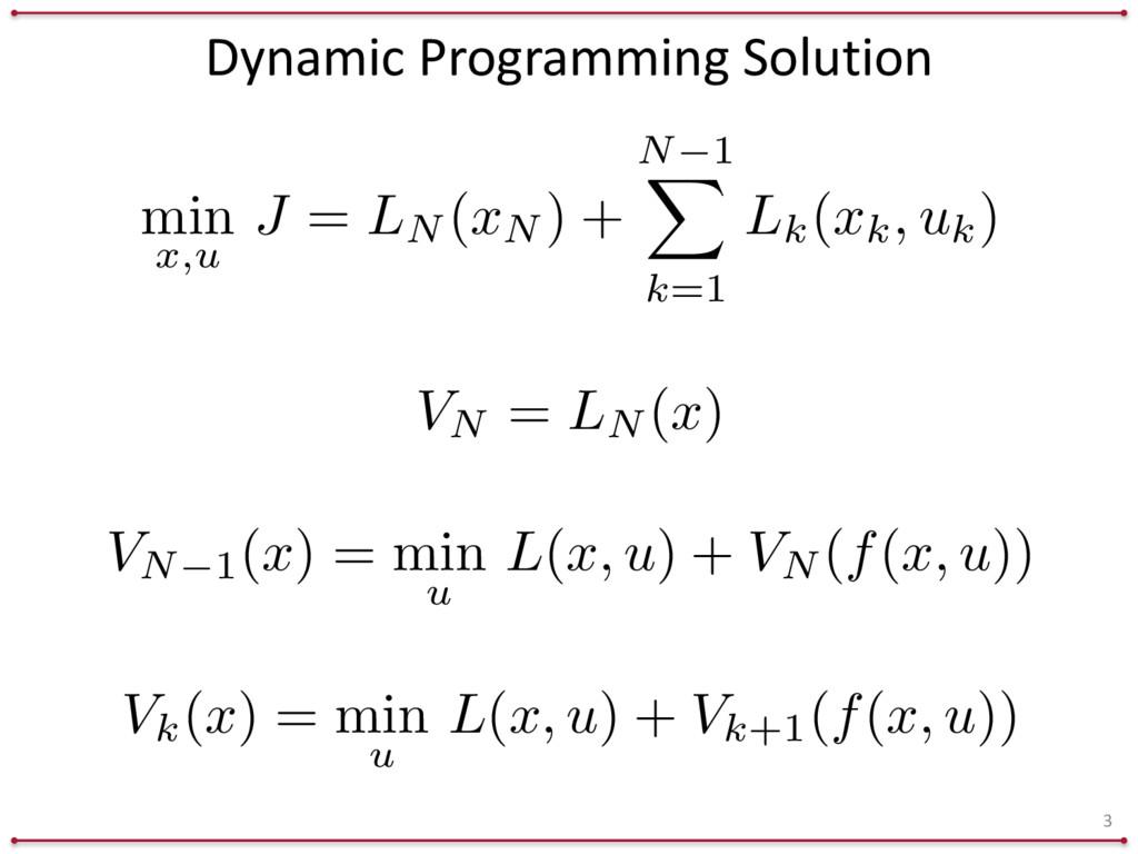 Dynamic Programming Solution 3 Vk( x ) = ...