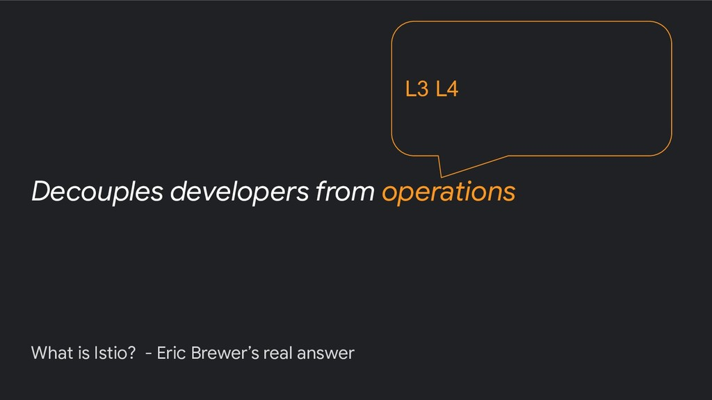 What is Istio? - Eric Brewer's real answer Deco...