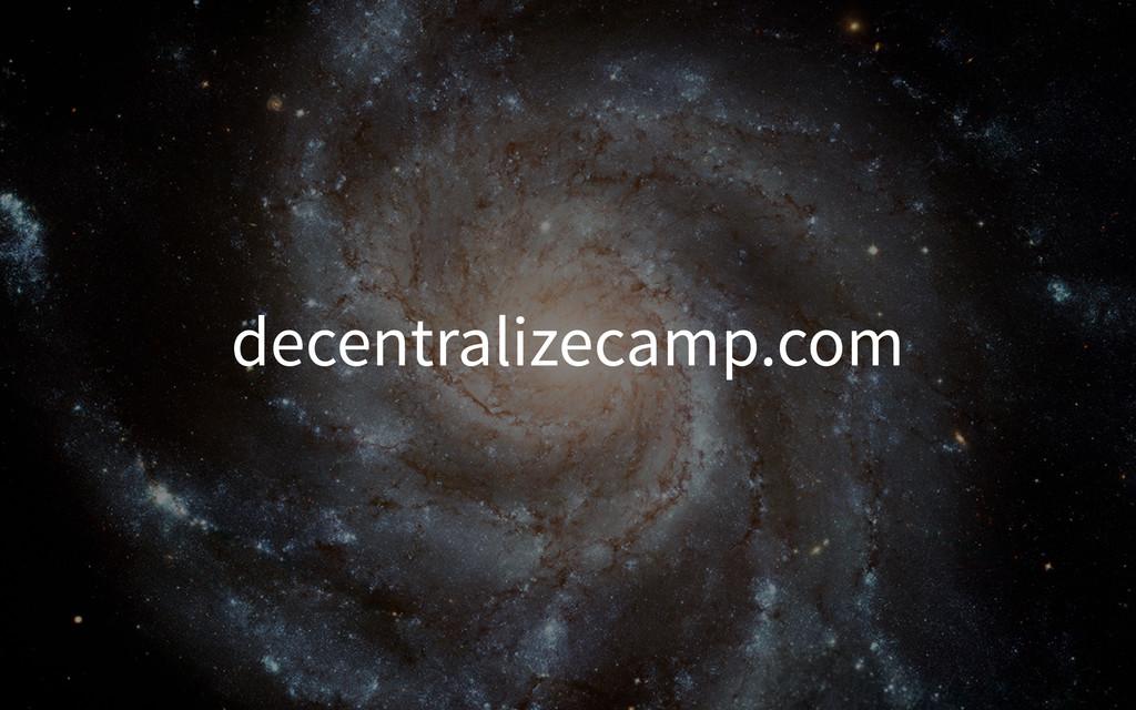 decentralizecamp.com