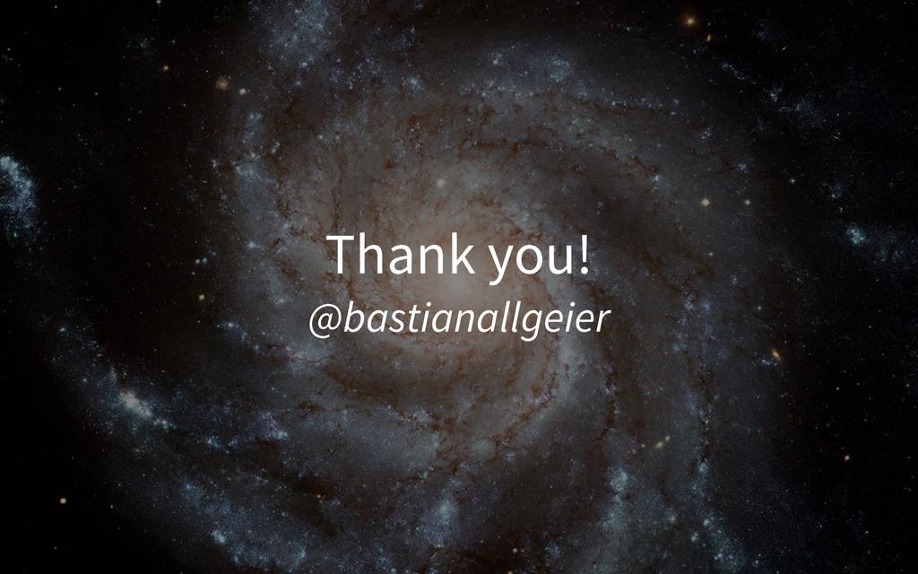 Thank you! @bastianallgeier