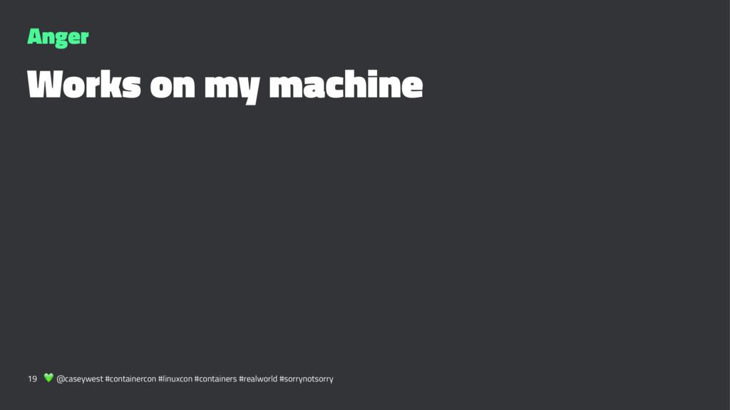 Anger Works on my machine 19 ! @caseywest #cont...
