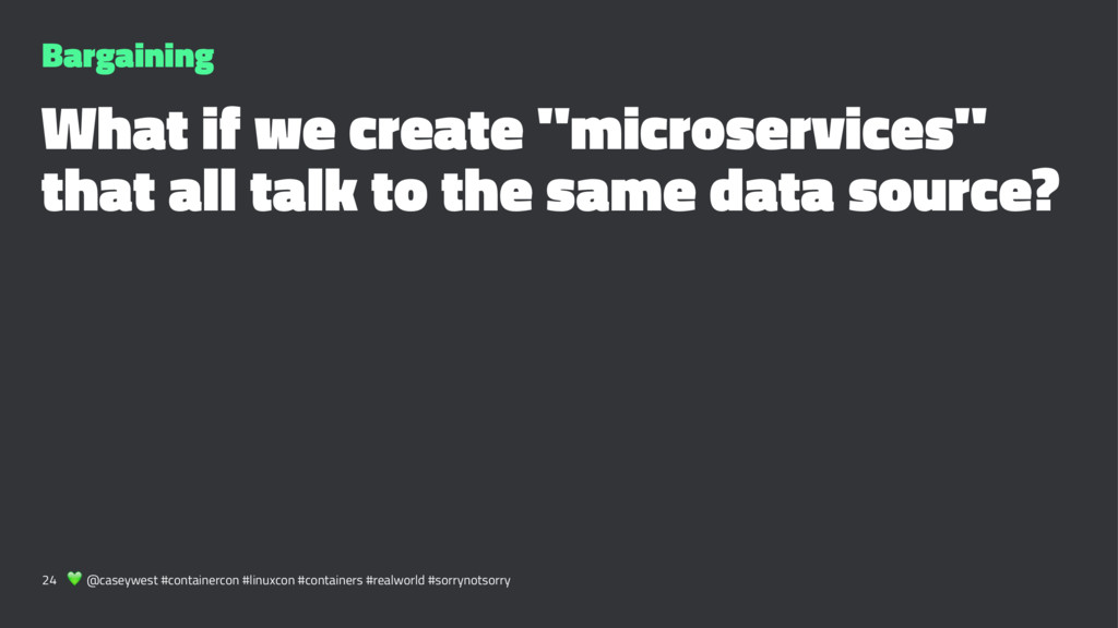 "Bargaining What if we create ""microservices"" th..."