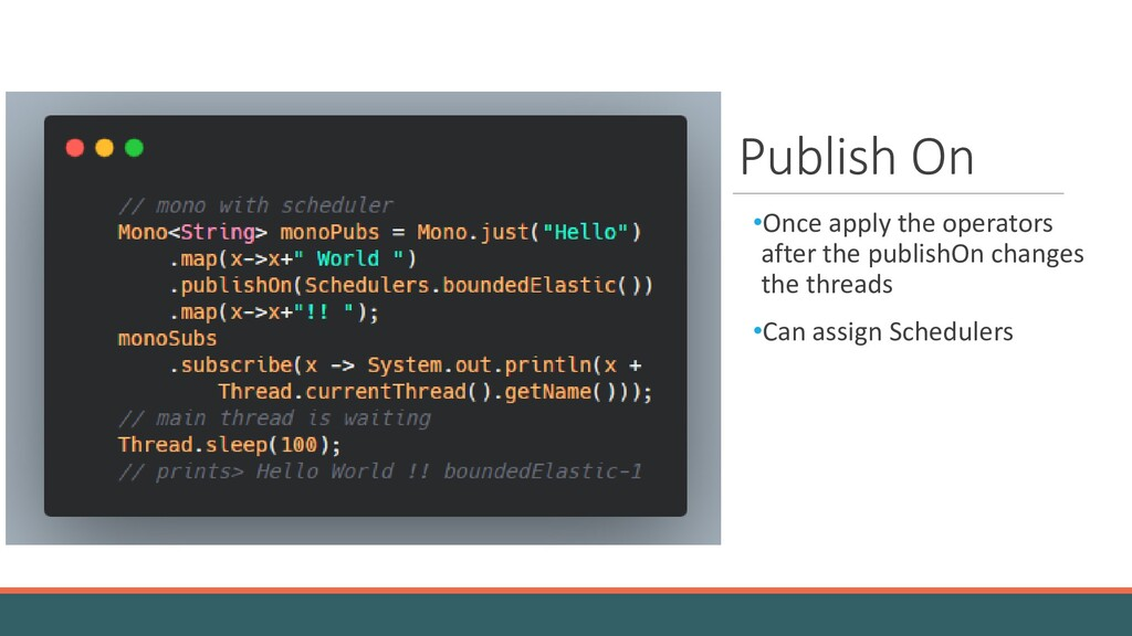 Publish On •Once apply the operators after the ...