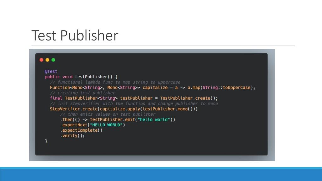 Test Publisher