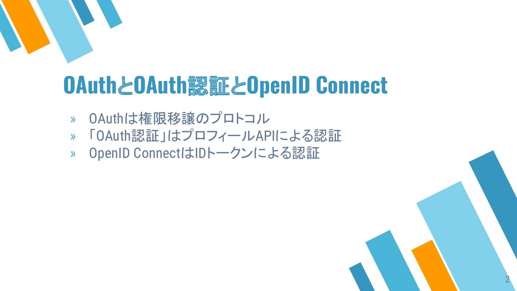 OAuthとOAuth認証とOpenID Connect » OAuthは権限移譲のプロトコル...