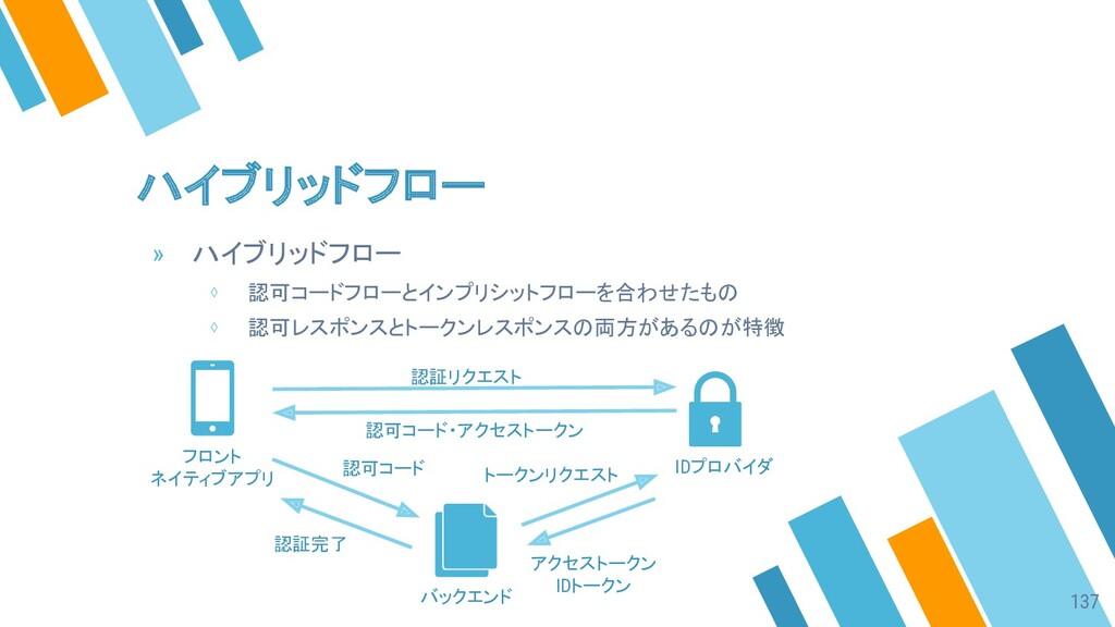 ハイブリッドフロー » ハイブリッドフロー ⋄ 認可コードフローとインプリシットフローを合わせ...