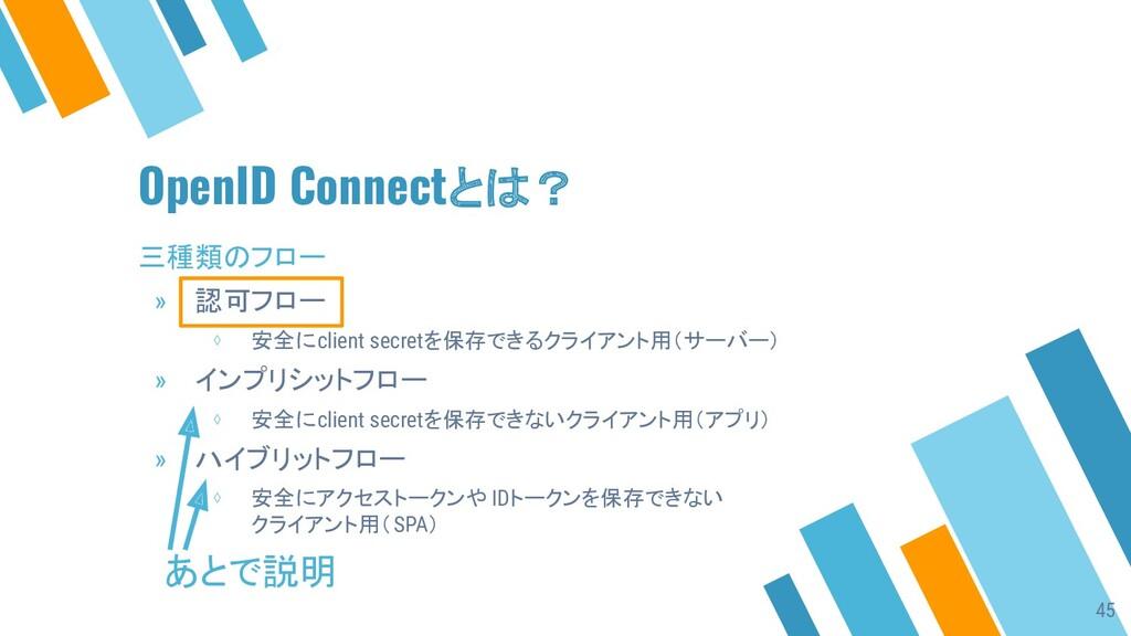 OpenID Connectとは? 三種類のフロー » 認可フロー ⋄ 安全にclient s...