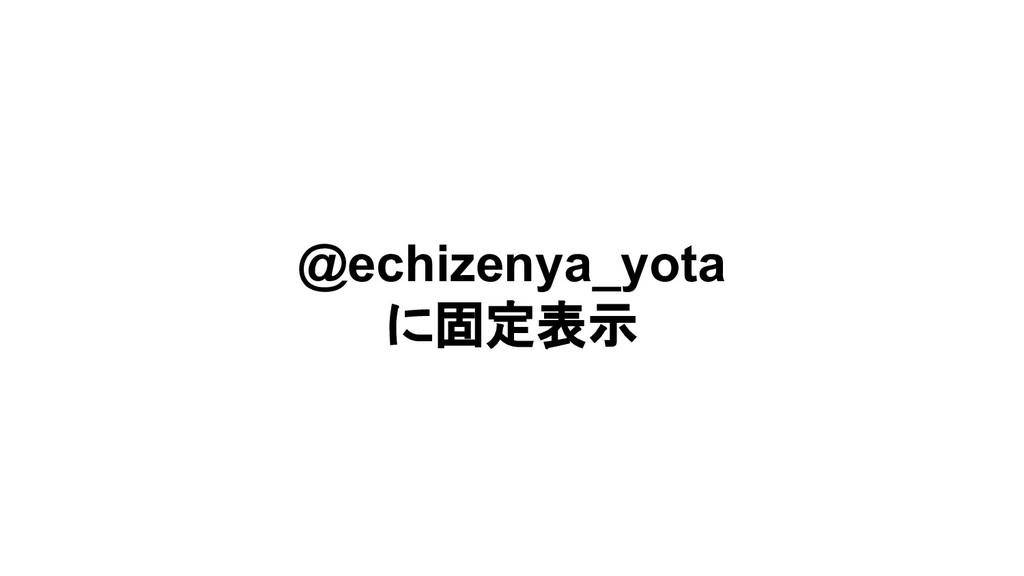 @echizenya_yota に固定表示