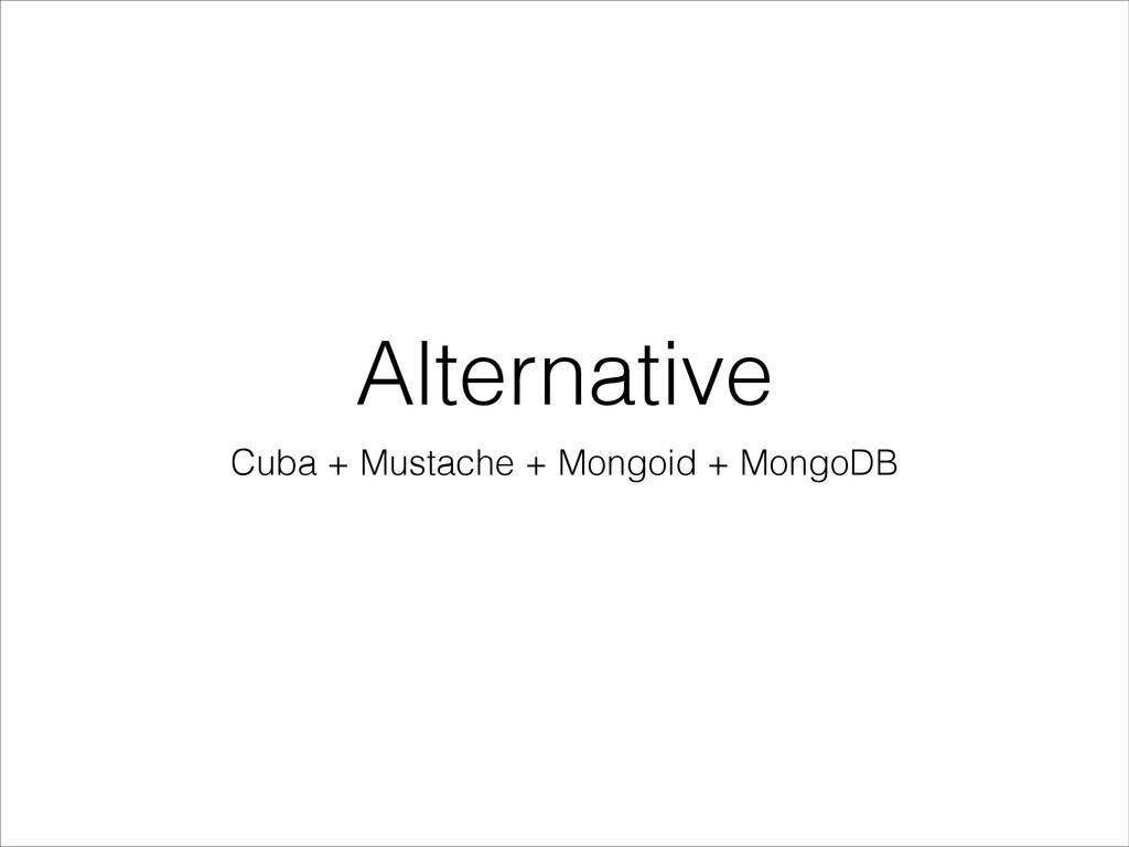 Alternative Cuba + Mustache + Mongoid + MongoDB