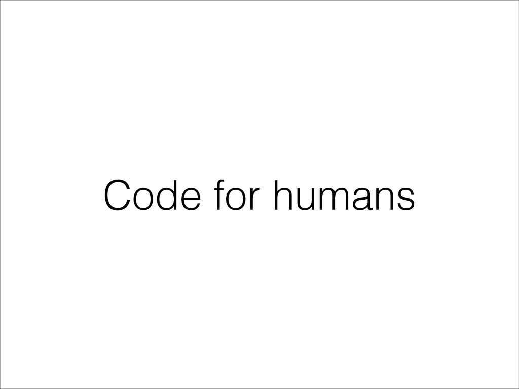 Code for humans