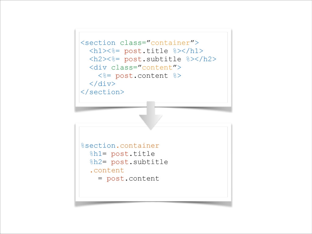 %section.container %h1= post.title %h2= post.su...