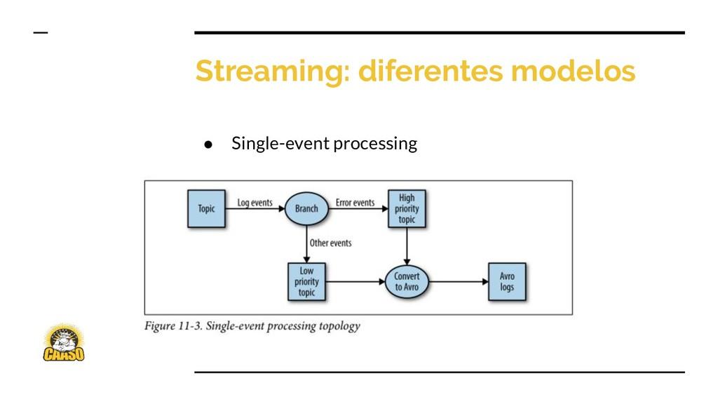 Streaming: diferentes modelos ● Single-event pr...