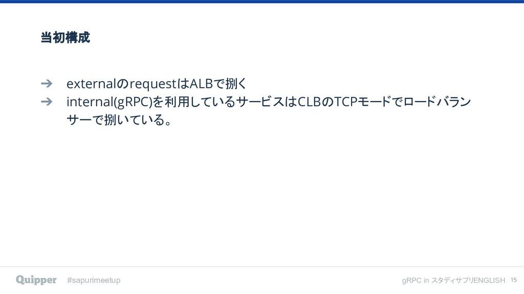 #sapurimeetup gRPC in スタディサプリENGLISH 当初構成 ➔ ext...