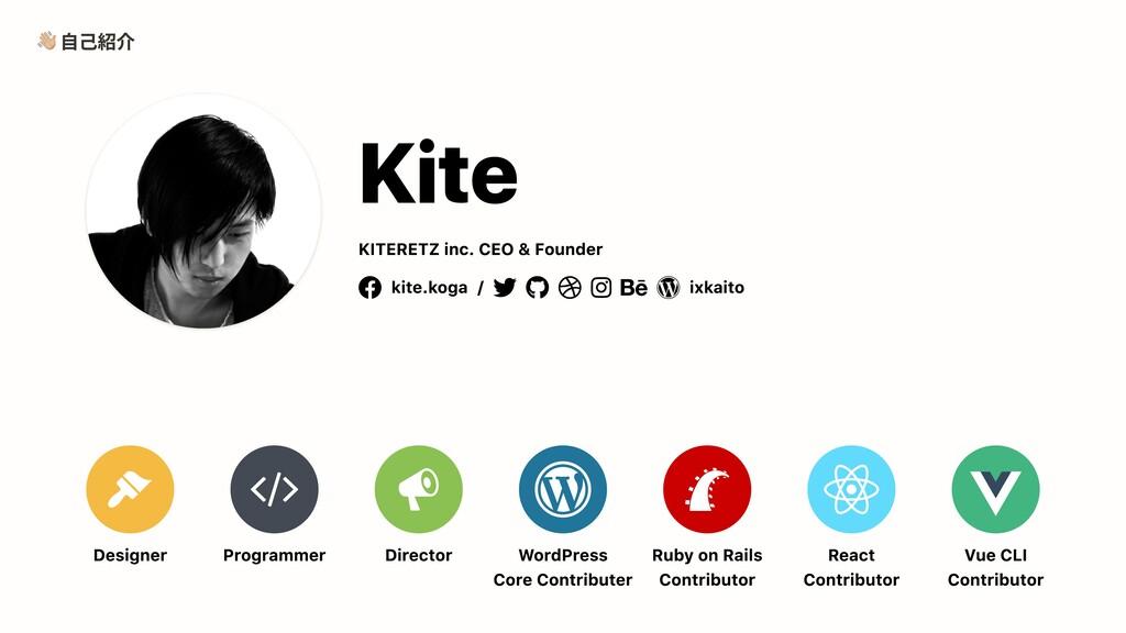 自己紹介 Designer Programmer Director WordPress  Co...