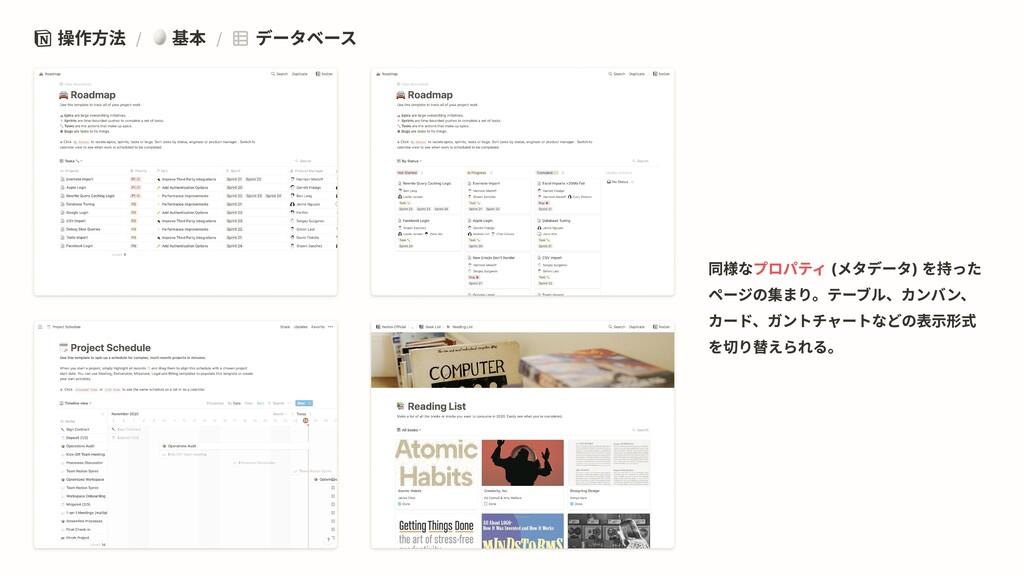 操作方法 / 基本 / データベース プロパティ 同様な (メタデータ) を持った ページの集...