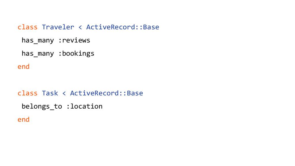 class Traveler < ActiveRecord::Base has_many :r...