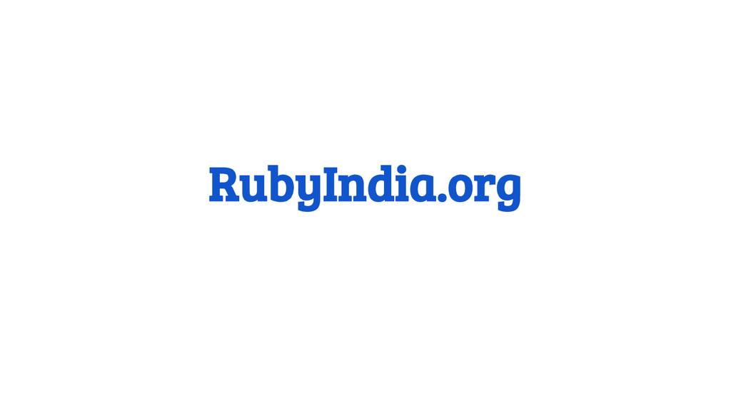 RubyIndia.org