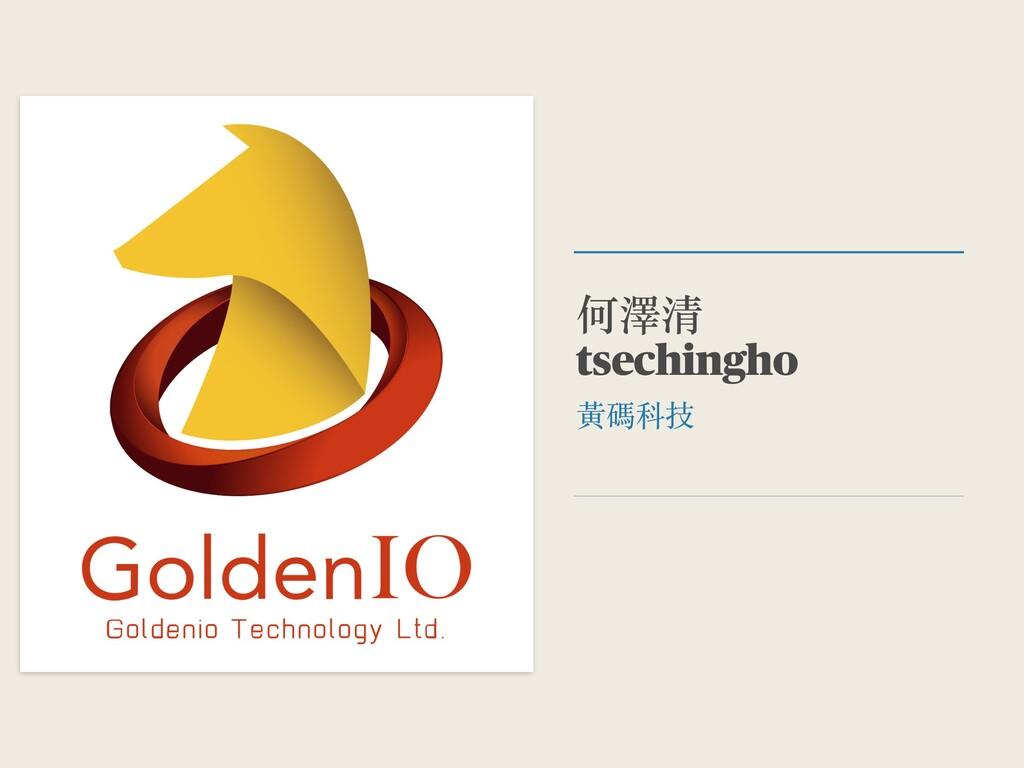 何澤清 tsechingho ⿈碼科技