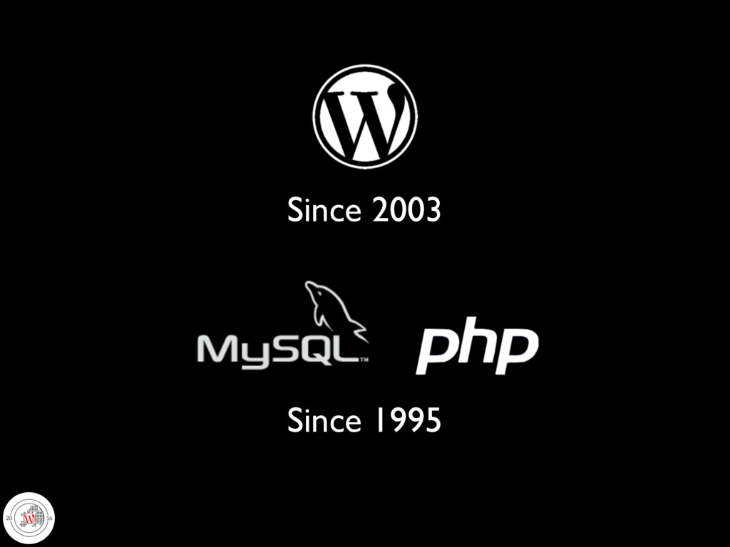 Since 1995 Since 2003