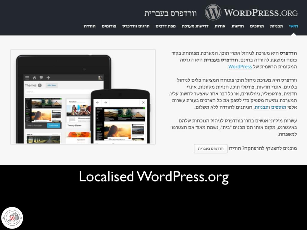 Localised WordPress.org