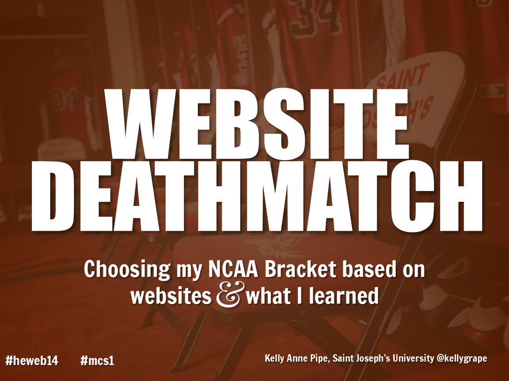 Choosing my NCAA Bracket based on websites what...