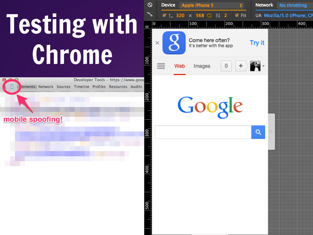 Testing with Chrome