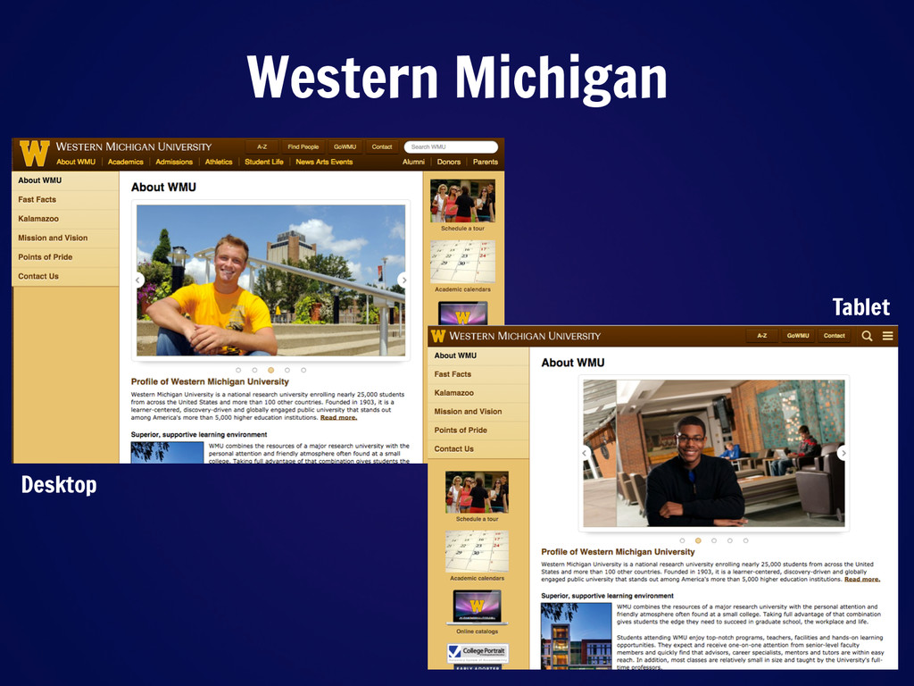 Western Michigan Desktop Tablet