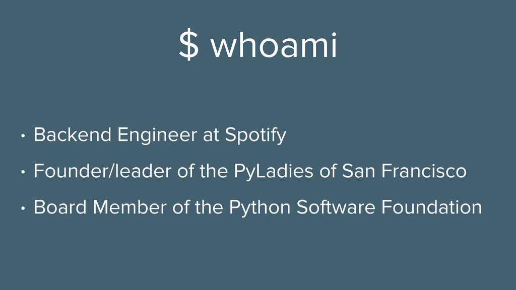 $ whoami • Backend Engineer at Spotify • Founde...