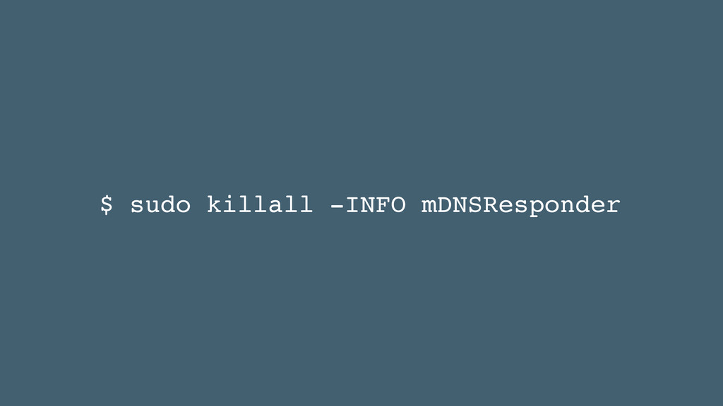 $ sudo killall -INFO mDNSResponder
