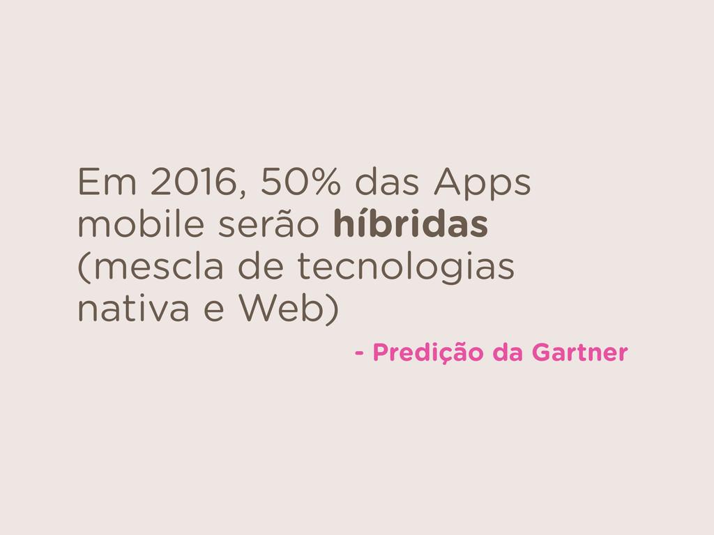 Em 2016, 50% das Apps mobile serão híbridas (me...
