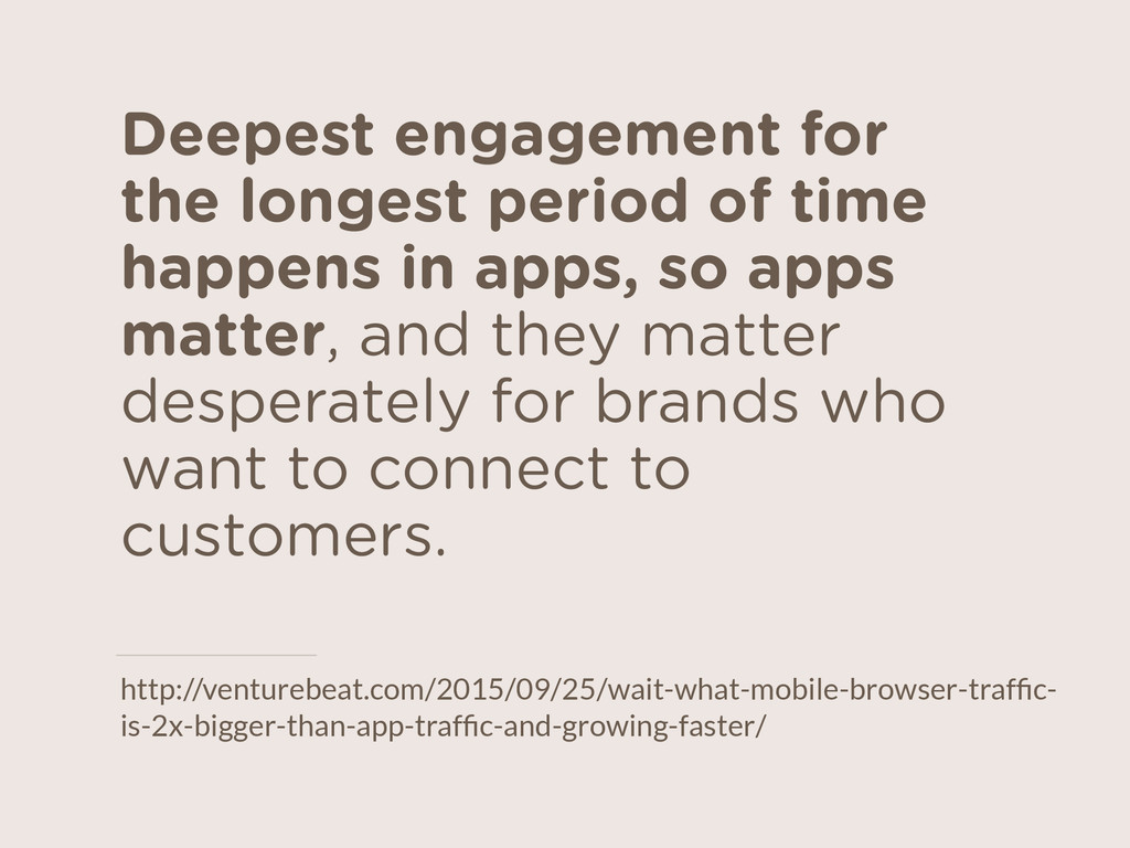 Deepest engagement for the longest period of ti...