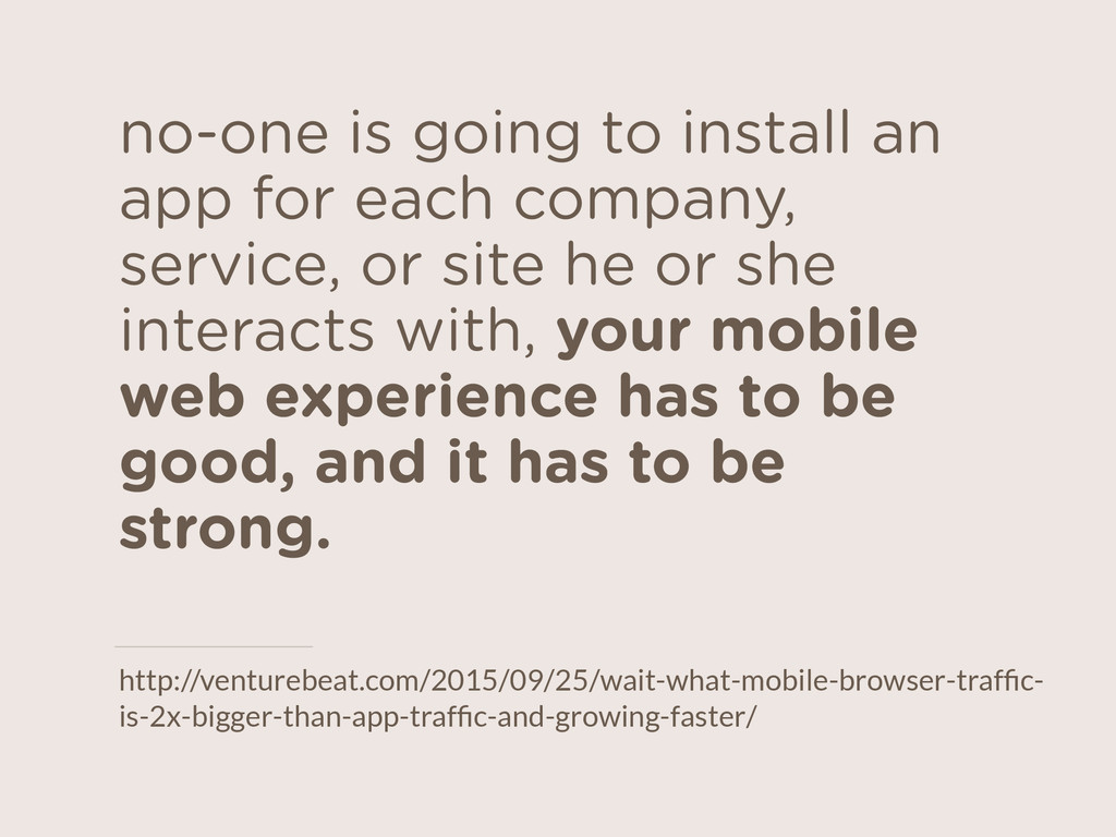no-one is going to install an app for each comp...