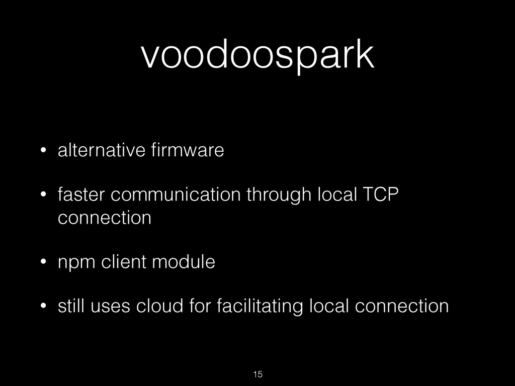 voodoospark • alternative firmware • faster comm...