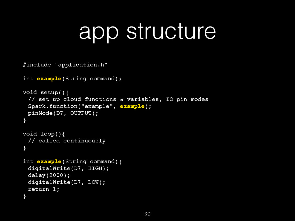"""app structure #include """"application.h"""" int exa..."""