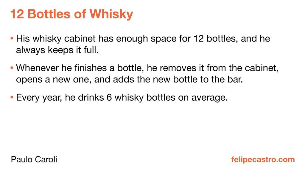 12 Bottles of Whisky felipecastro.com • His whi...