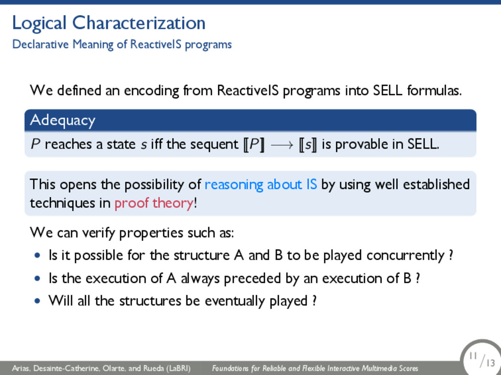 Logical Characterization Declarative Meaning of...