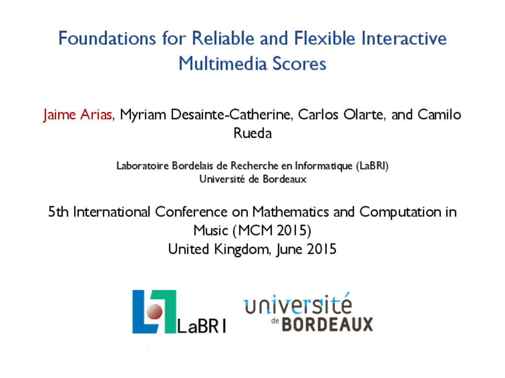 Foundations for Reliable and Flexible Interacti...