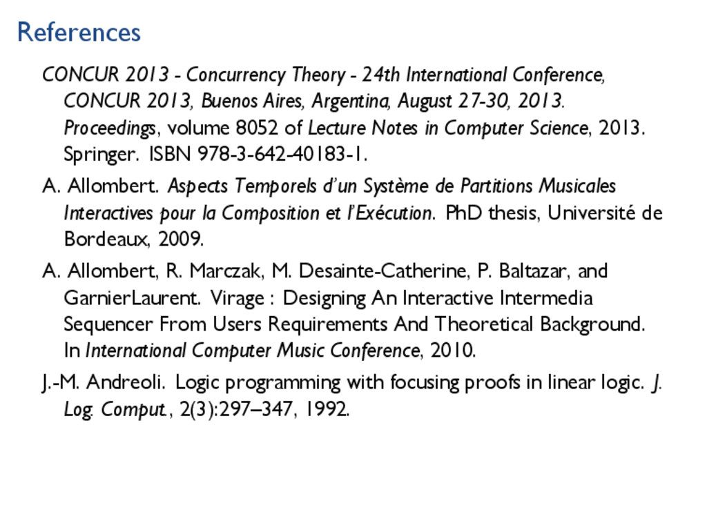 References CONCUR 2013 - Concurrency Theory - 2...