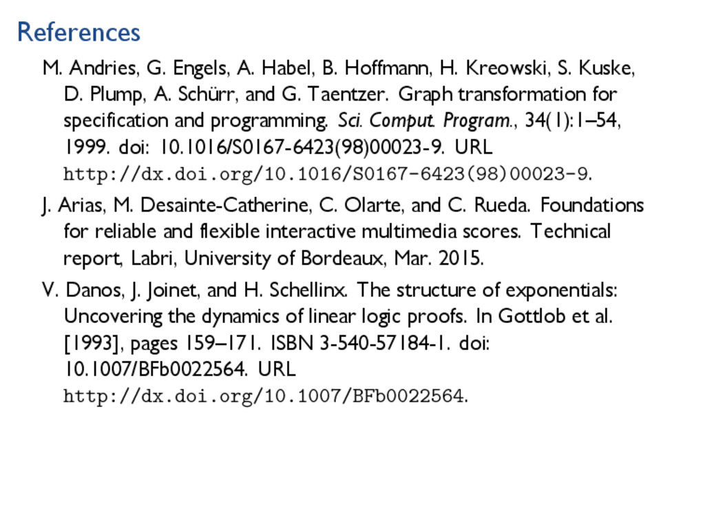 References M. Andries, G. Engels, A. Habel, B. ...