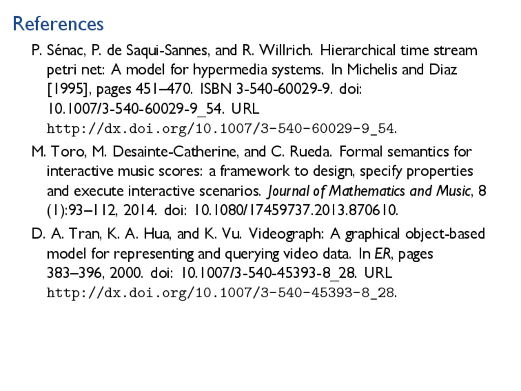 References P. Sénac, P. de Saqui-Sannes, and R....