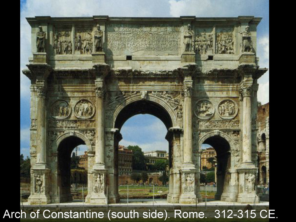Arch of Constantine (south side). Rome. 312-315...