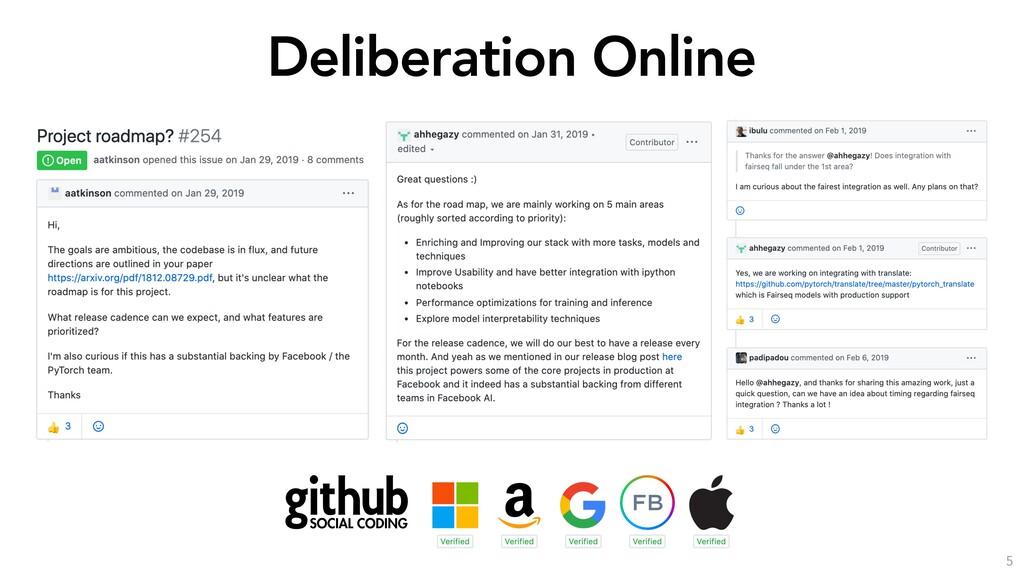 Deliberation Online 5