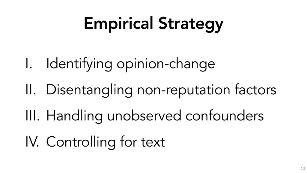 Empirical Strategy 10 I. Identifying opinion-ch...