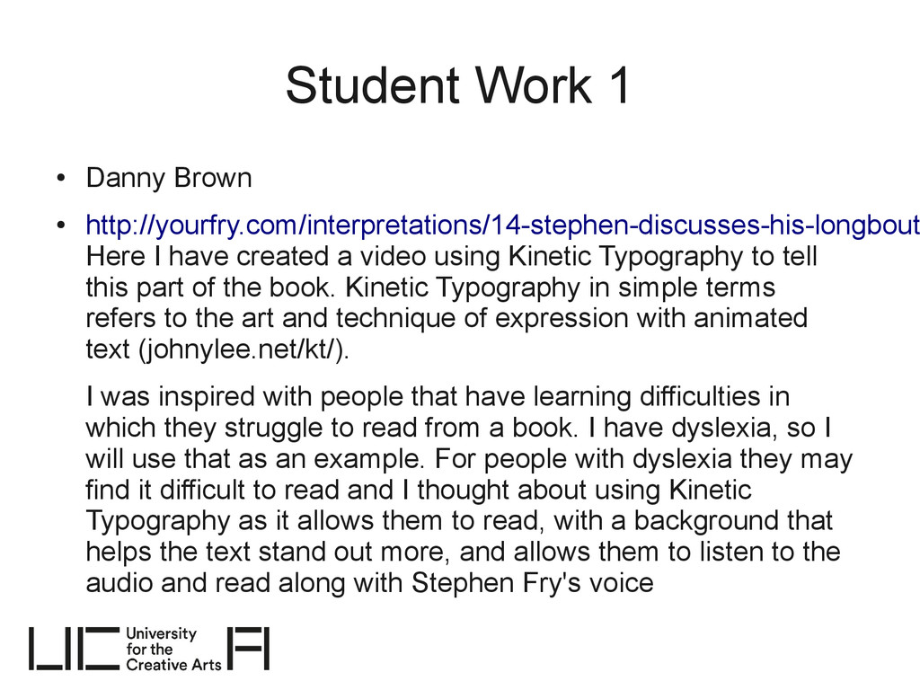 Student Work 1 ● Danny Brown ● http://yourfry.c...