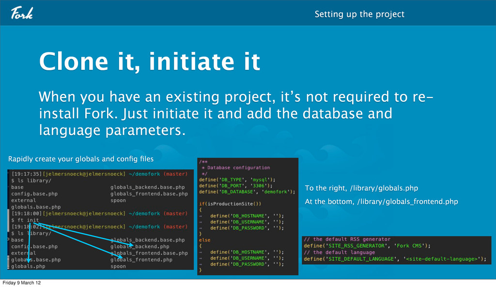 When you have an existing project, it's not req...