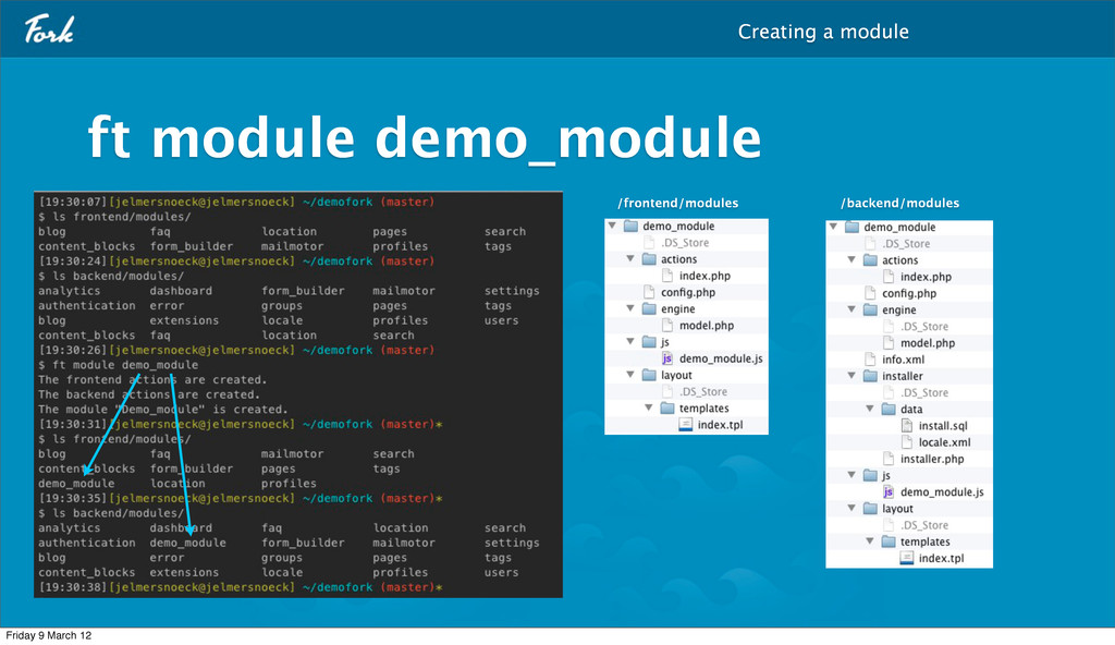ft module demo_module Creating a module /fronte...